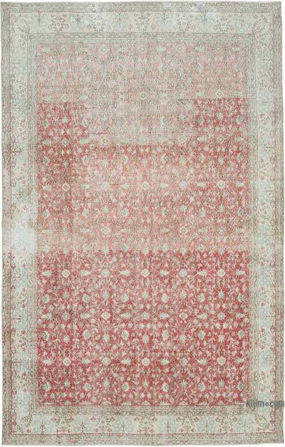 """Vintage Turkish Hand-knotted Area Rug - 6' 8"""" x 10' 9"""" (80 in. x 129 in.)"""