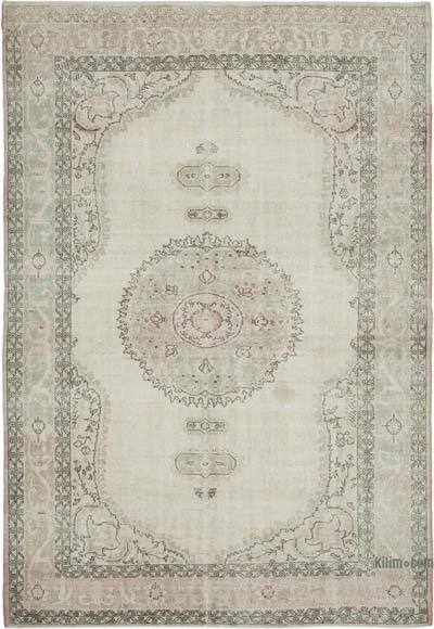 "Vintage Turkish Hand-knotted Area Rug - 7' 3"" x 10' 10"" (87 in. x 130 in.)"