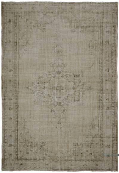 "Vintage Turkish Hand-knotted Area Rug - 7' 4"" x 10' 4"" (88 in. x 124 in.)"