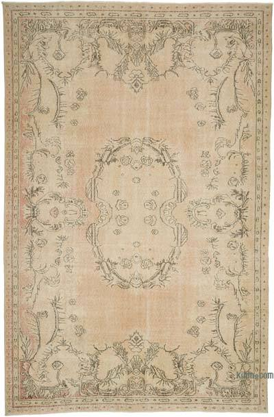 "Vintage Turkish Hand-knotted Area Rug - 6' 8"" x 10' 4"" (80 in. x 124 in.)"