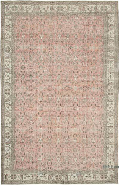"""Vintage Turkish Hand-knotted Area Rug - 6' 10"""" x 10' 10"""" (82 in. x 130 in.)"""