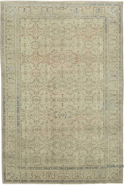 "Vintage Turkish Hand-knotted Area Rug - 6' 6"" x 9' 6"" (78 in. x 114 in.)"