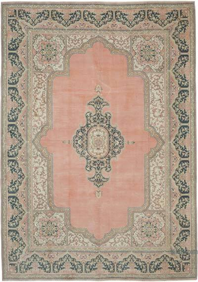 "Vintage Turkish Hand-knotted Area Rug - 8'  x 11' 4"" (96 in. x 136 in.)"