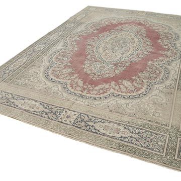 """Vintage Turkish Hand-Knotted Rug - 7' 10"""" x 11' 4"""" (94 in. x 136 in.) - K0049216"""