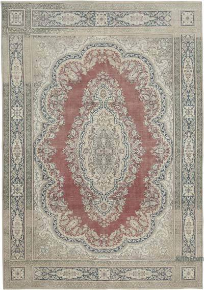 "Vintage Turkish Hand-knotted Area Rug - 7' 10"" x 11' 4"" (94 in. x 136 in.)"