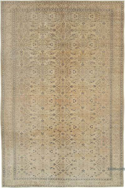 "Vintage Turkish Hand-knotted Area Rug - 5' 11"" x 9' 4"" (71 in. x 112 in.)"