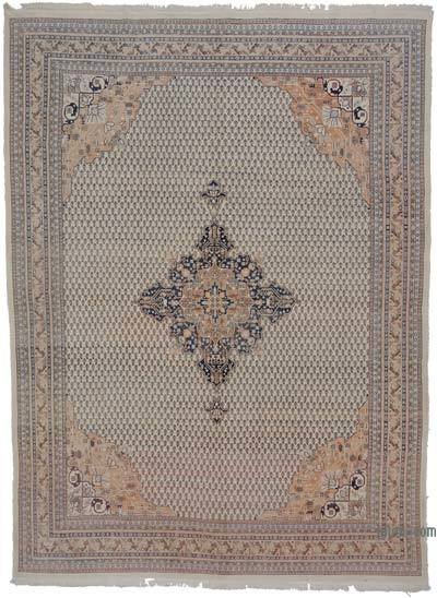 "Vintage Turkish Hand-knotted Area Rug - 7' 9"" x 10' 8"" (93 in. x 128 in.)"