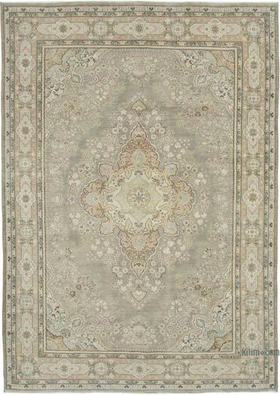 """Vintage Turkish Hand-knotted Area Rug - 6' 8"""" x 10' 3"""" (80 in. x 123 in.)"""