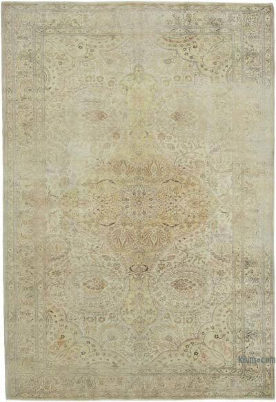 "Vintage Turkish Hand-knotted Area Rug - 7' 3"" x 10' 7"" (87 in. x 127 in.)"