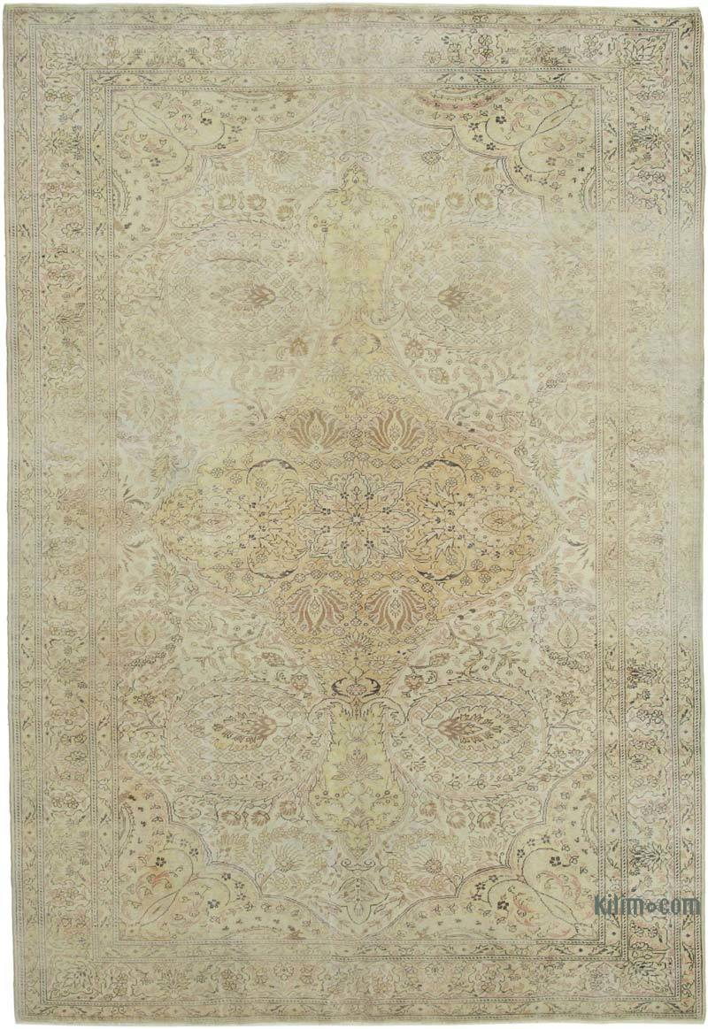 """Vintage Turkish Hand-Knotted Rug - 7' 3"""" x 10' 7"""" (87 in. x 127 in.) - K0049229"""
