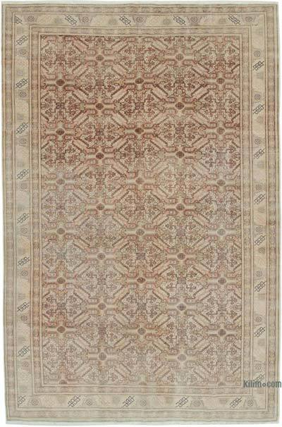 "Vintage Turkish Hand-knotted Area Rug - 6' 5"" x 9' 6"" (77 in. x 114 in.)"