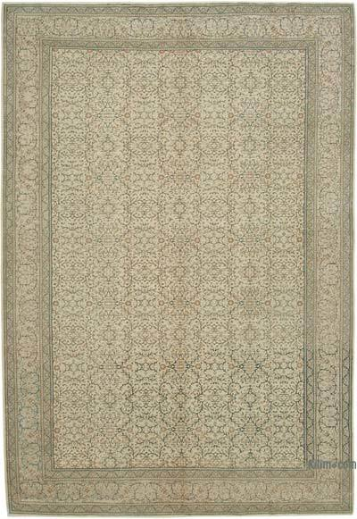 "Vintage Turkish Hand-knotted Area Rug - 6' 7"" x 9' 5"" (79 in. x 113 in.)"