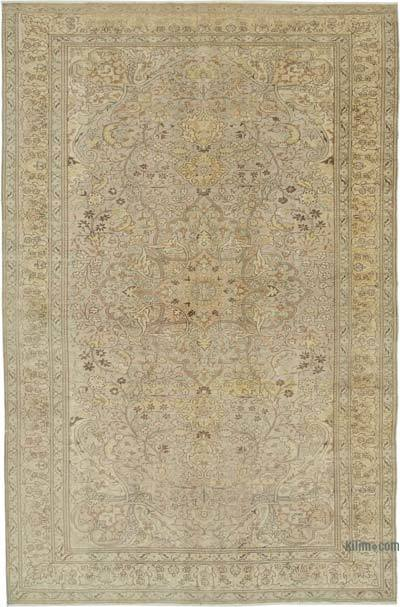 "Vintage Turkish Hand-knotted Area Rug - 6' 5"" x 9' 9"" (77 in. x 117 in.)"