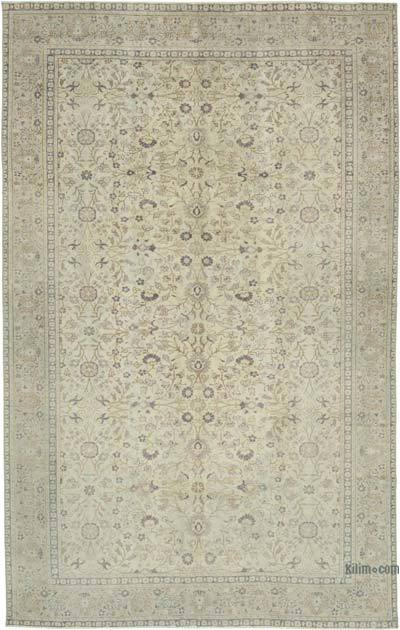 "Vintage Turkish Hand-knotted Area Rug - 5' 10"" x 9' 2"" (70 in. x 110 in.)"