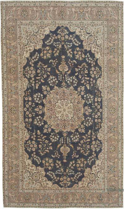 "Vintage Turkish Hand-knotted Area Rug - 6' 8"" x 11' 5"" (80 in. x 137 in.)"