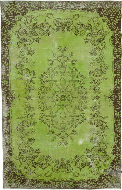 "Over-dyed Vintage Hand-knotted Turkish Rug - 6' 7"" x 10' 4"" (79 in. x 124 in.)"