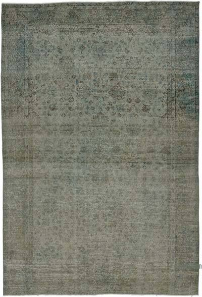 "Over-dyed Vintage Hand-knotted Turkish Rug - 6' 9"" x 10' 2"" (81 in. x 122 in.)"
