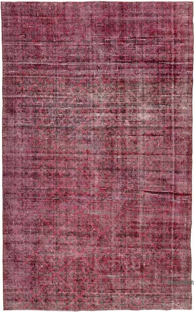 "Over-dyed Vintage Hand-knotted Turkish Rug - 6' 6"" x 10' 7"" (78 in. x 127 in.)"