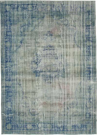 Alfombra Turca Vintage Sobre-teñida - 218 cm x 296 cm
