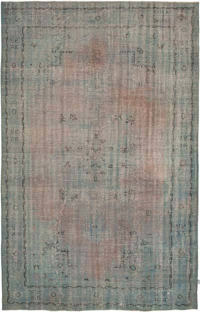 "Over-dyed Vintage Hand-knotted Turkish Rug - 6' 8"" x 10' 2"" (80 in. x 122 in.)"