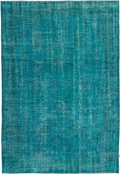 """Over-dyed Vintage Hand-knotted Turkish Rug - 6' 10"""" x 9' 11"""" (82 in. x 119 in.)"""