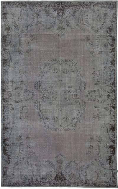 "Over-dyed Vintage Hand-knotted Turkish Rug - 5' 11"" x 9' 7"" (71 in. x 115 in.)"
