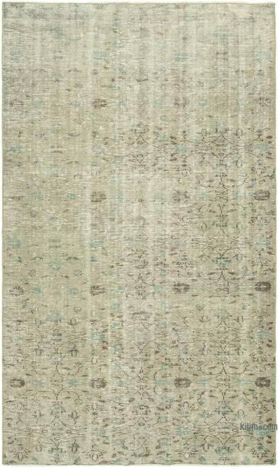 Gri Boyalı El Dokuma Anadolu Halısı - 155 cm x 257 cm