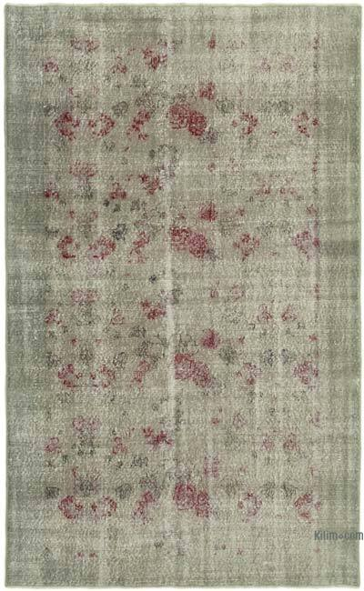 """Over-dyed Vintage Hand-knotted Turkish Rug - 4' 9"""" x 7' 7"""" (57 in. x 91 in.)"""
