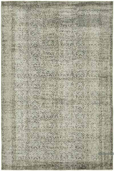 """Grey Over-dyed Vintage Hand-knotted Turkish Rug - 6'  x 8' 11"""" (72 in. x 107 in.)"""