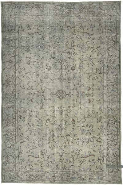 "Grey Over-dyed Vintage Hand-knotted Turkish Rug - 6'  x 9' 1"" (72 in. x 109 in.)"