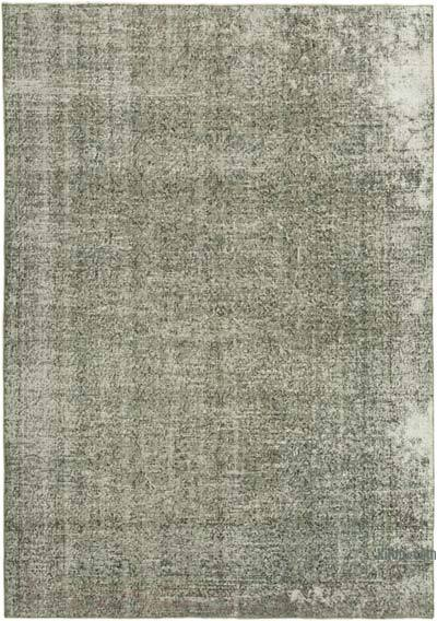 "Grey Over-dyed Vintage Hand-knotted Turkish Rug - 6' 8"" x 9' 4"" (80 in. x 112 in.)"