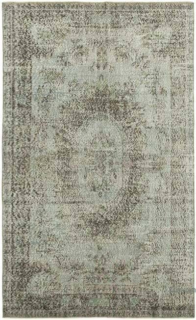 "Over-dyed Vintage Hand-knotted Turkish Rug - 5' 5"" x 8' 11"" (65 in. x 107 in.)"