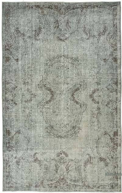 "Over-dyed Vintage Hand-knotted Turkish Rug - 6' 1"" x 9' 7"" (73 in. x 115 in.)"