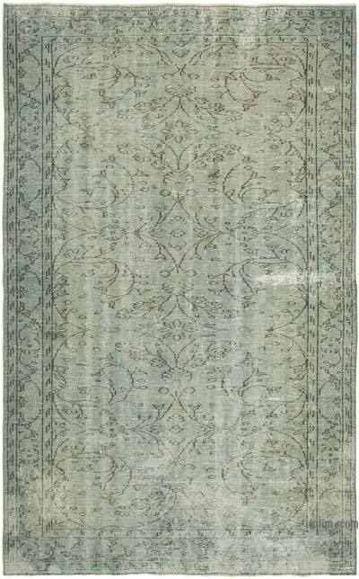 "Blue Over-dyed Turkish Vintage Rug - 5' 8"" x 8' 11"" (68 in. x 107 in.)"