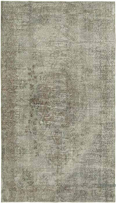 """Grey Over-dyed Vintage Hand-knotted Turkish Rug - 5' 4"""" x 9' 4"""" (64 in. x 112 in.)"""