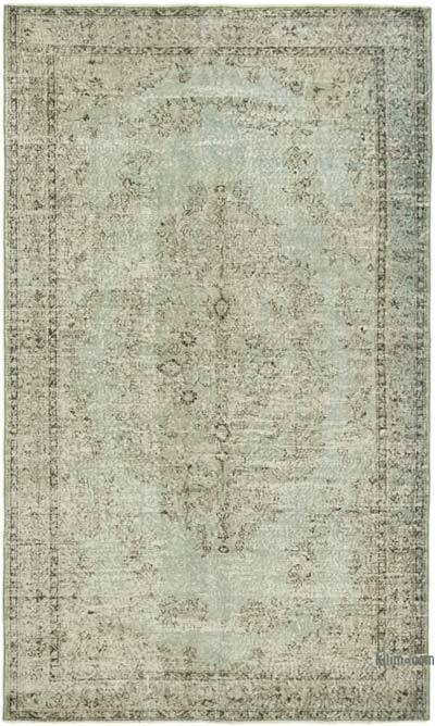 """Grey Over-dyed Vintage Hand-Knotted Turkish Rug - 5' 4"""" x 8' 10"""" (64 in. x 106 in.)"""