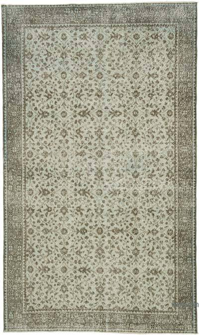 "Vintage Turkish Hand-knotted Area Rug - 5' 3"" x 8' 10"" (63 in. x 106 in.)"
