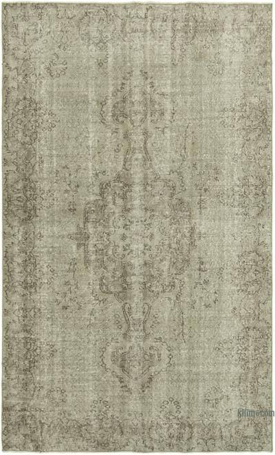 """Over-dyed Vintage Hand-knotted Turkish Rug - 5' 7"""" x 9' 2"""" (67 in. x 110 in.)"""