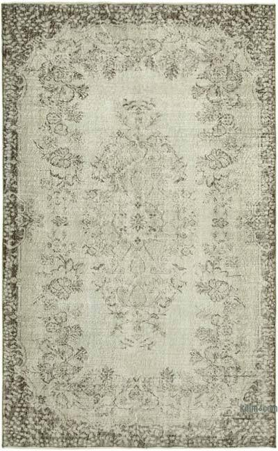 """Over-dyed Vintage Hand-knotted Turkish Rug - 5' 5"""" x 8' 9"""" (65 in. x 105 in.)"""
