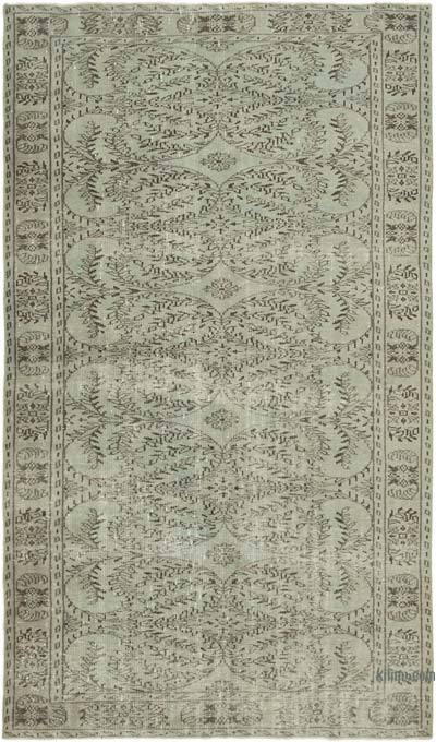 "Over-dyed Vintage Hand-knotted Turkish Rug - 5' 8"" x 9' 5"" (68 in. x 113 in.)"