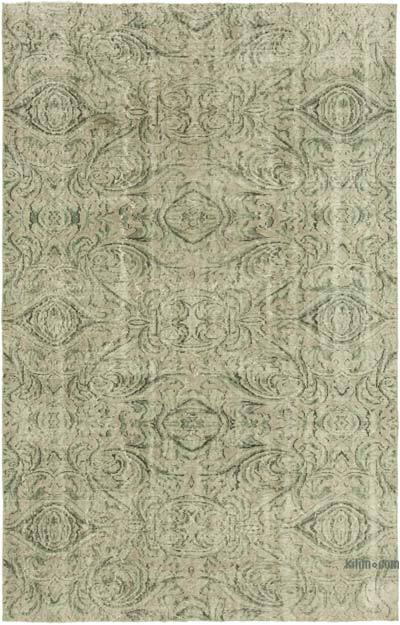 """Over-dyed Vintage Hand-knotted Turkish Rug - 5' 8"""" x 8' 9"""" (68 in. x 105 in.)"""