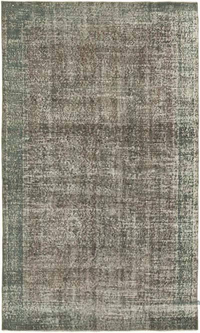"""Grey Over-dyed Vintage Hand-Knotted Turkish Rug - 5' 2"""" x 8' 5"""" (62 in. x 101 in.)"""