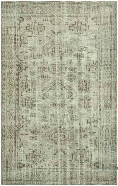 """Over-dyed Vintage Hand-knotted Turkish Rug - 5' 10"""" x 9' 3"""" (70 in. x 111 in.)"""
