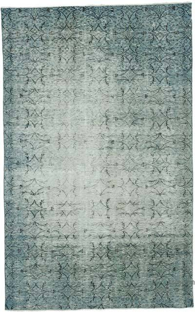 "Over-dyed Vintage Hand-knotted Turkish Rug - 5' 1"" x 8' 2"" (61 in. x 98 in.)"