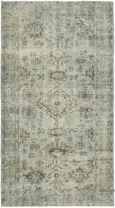 """Over-dyed Vintage Hand-knotted Turkish Rug - 4' 9"""" x 8' 7"""" (57 in. x 103 in.)"""