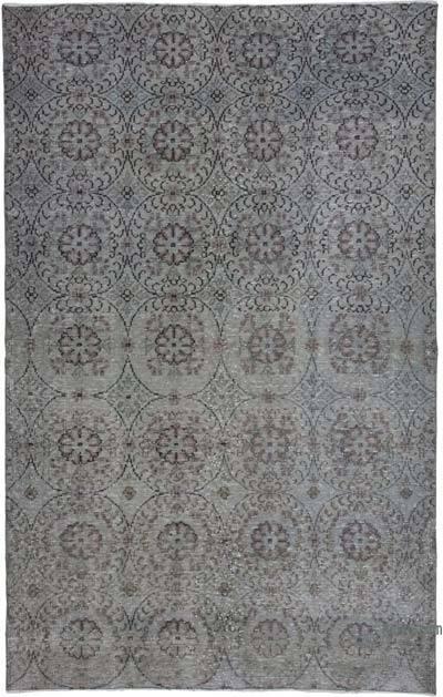 Alfombra Turca Vintage Sobre-teñida - 183 cm x 292 cm