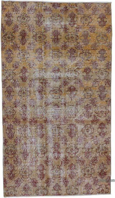 Vintage El Dokuma Anadolu Halısı - 110 cm x 192 cm