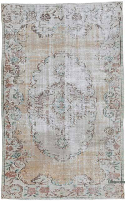 "Vintage Turkish Hand-knotted Area Rug - 4' 11"" x 7' 10"" (59 in. x 94 in.)"