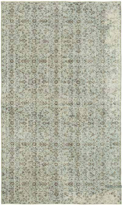 "Over-dyed Vintage Hand-knotted Turkish Rug - 5' 2"" x 8' 6"" (62 in. x 102 in.)"