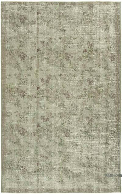 "Over-dyed Vintage Hand-knotted Turkish Rug - 5' 3"" x 8' 2"" (63 in. x 98 in.)"